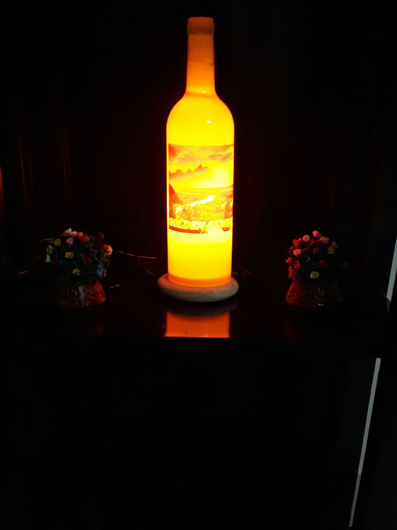 GS Bottle lamp by Golden Rakhi