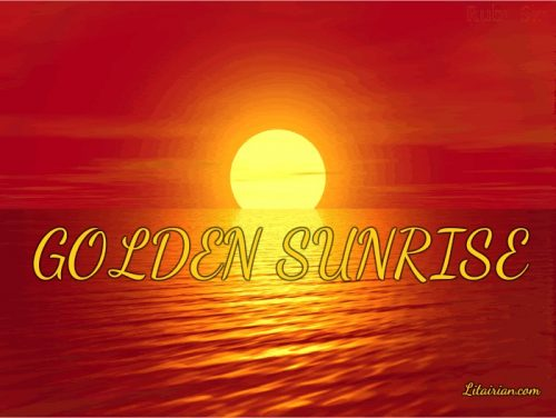 Chanting Golden Sunrise