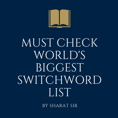 switchword list sharat sir